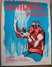 GUIDED BY VOICES - GBV - POSTER - 2017 - DENVER - BLUEBIRD THEATER - MOON LIGHT SPEED