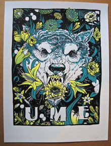 UME - ART PRINT - SILK SCREENED - OTHER NATURE - PHANTOMS - MONUMENTS- MOON LIGHT SPEED