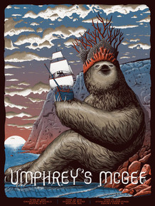 UMPHREY'S McGEE - 2018 - BUFFALO - BOSTON - ASBURY PARK - NEAL WILLIAMS - POSTER