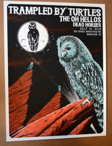 TRAMPLES BY TURTLES - 2018 - VARAINT - RED ROCKS - DENVER - NEAL WILLIAMS - POSTER