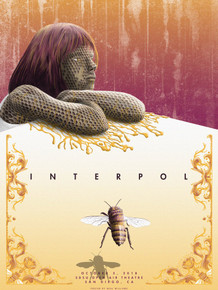 INTERPOL -2018 - SAN DIEGO - SDSU OPEM AIR THEATRE -  NEAL WILLIAMS - POSTER