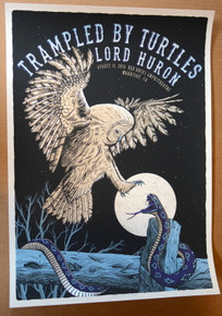 TRAMPLED BY TURTLES -2016 - DENVER -  RED ROCKS  - NEAL WILLIAMS - POSTER