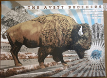 AVETT BROTHERS - 2018 -MISSOULA MT - BIG SKY BREWING - NEAL WILLIAMS - POSTER