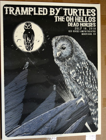 TRAMPLES BY TURTLES - 2018 - RED ROCKS - DENVER - NEAL WILLIAMS - POSTER