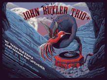 JOHN BUTLER TRIO -2018 - RED ROCKS AMPHITHEATER -  NEAL WILLIAMS - POSTER