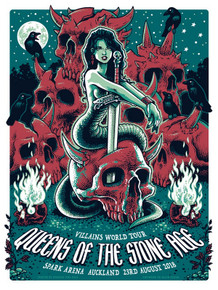 QUEENS OF THE STONE AGE - 2018 - AUCKLAND - POSTER - BLAIR SAYERS - JOSH HOMME