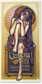 QUEENS OF THE STONE AGE - BERLIN - VELODROM - PURPLE - LARS KRAUSE - TOUR POSTER