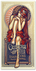 QUEENS OF THE STONE AGE - BERLIN - VELODROM - RED - LARS KRAUSE - TOUR POSTER