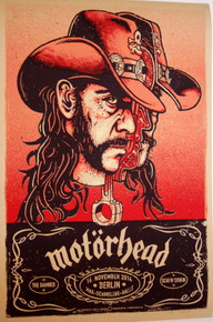 MOTORHEAD - LEMMY- 2014 - BERLIN - THE DAMNED - LARS KRAUSE - POSTER - SCREENED