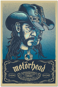 MOTORHEAD - LEMMY- 2014 -BLUE VARIANT -  BERLIN - THE DAMNED - LARS KRAUSE - POSTER