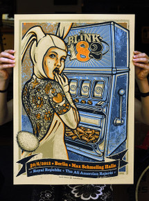BLINK 182 - GERMANY - BERLIN - LARS KRAUSE - BLUE VARIANT - 2012 -TOUR POSTER