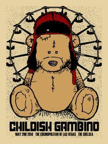 CHILDISH GAMBINO - 2014 - THE CHELSEA - COSMOPOLITAN - LAS VEGAS - XRAY - TOUR POSTER