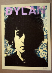 BOB DYLAN - LIMITED EDITION ART PRINT -  BLOOD ON THE TRACKS - XRAY - POSTER
