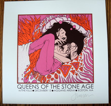 QUEENS OF THE STONE AGE - MINI PRINT - BOSTON - JERMAINE ROGERS - HANDBILL