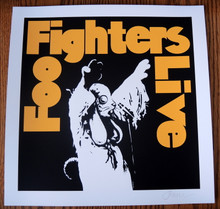 FOO FIGHTERS - MINI PRINT - CREME PAPER - JERMAINE ROGERS -