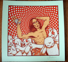 IGGY POP - MINI PRINT -  MINT GREEN VARIANT - JERMAINE ROGERS -