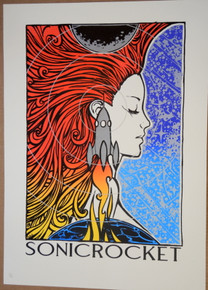 SONIC ROCKET - 2007 - ART PRINT - MALLUES - SILK SCREEN POSTER