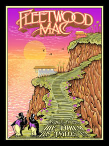 FLEETWOOD MAC - 2018 - THE FORUM - LOS ANGELES - MIKE DUBOIS - TOUR POSTER