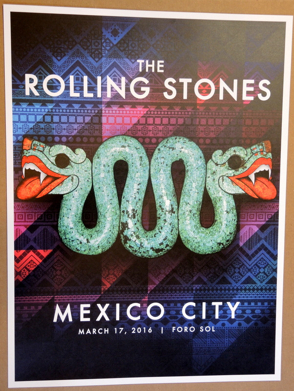 ROLLING STONES - MEXICO CITY - 2016 - FORO SOL - TOUR POSTER - KEITH  RICHARDS