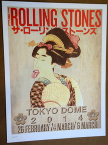 ROLLING STONES - 14 ON FIRE - 2014 - TOKYO DOME - JAPAN - TOUR POSTER - KEITH RICHARDS - MICK JAGGER