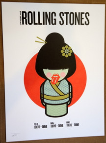 ROLLING STONES - 14 ON FIRE - 2014 - TOKYO DOME - TOKYO - TOUR POSTER - KEITH RICHARDS - MICK JAGGER