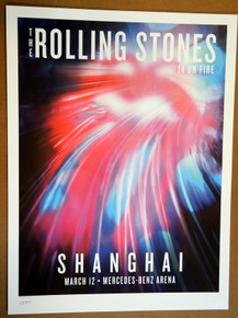 ROLLING STONES - 14 ON FIRE - 2014 - #186/500 - SHANGHAI - CHINA - TOUR POSTER - KEITH RICHARDS - MICK JAGGER