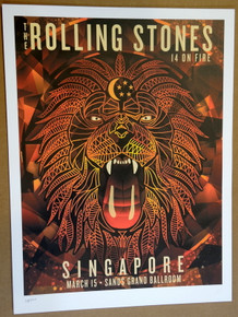 ROLLING STONES - 14 ON FIRE - 2014 - SINGAPORE - CHINA - TOUR POSTER - KEITH RICHARDS - MICK JAGGER