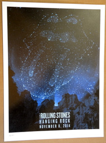ROLLING STONES - 14 ON FIRE - 2014 - HANGING ROCK - AUSTRALIA - #214/300 - TOUR POSTER - KEITH RICHARDS - MICK JAGGER