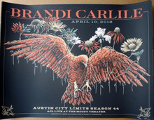 BRANDI CARLILE - 2018 - AUSTIN CITY LIMITS - SEASON 44 - TOUR POSTER - NEAL WILLIAMS