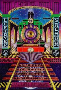 LEFTOVER SALMON - NEW YEARS EVE - 1999 - FILLMORE DENVER - POSTER - J.V.RIZZI