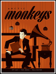 ARCTIC MONKEYS - 2014 - WELLINGTON - TOM WHALEN - TOUR POSTER