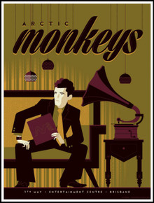 ARCTIC MONKEYS - 2014 - BRISBANE - TOM WHALEN - TOUR POSTER