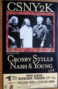 CSN&Y - 2000 - DENVER - CROSBY STILLS NASH YOUNG - TOUR POSTER
