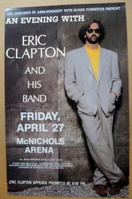 ERIC CLAPTON - 1990 - ORIGINAL - DENVER - McNICHOLS ARENA - TOUR POSTER