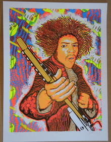 JIMI HENDRIX - ART PRINT - LINDSEY KUHN -  ARE YOU EXPERIENCED - AXIS