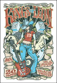 KINGS OF LEON - LOUISVILLE - 2009 - DAYMON GREULICH - TOUR POSTER