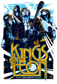 KINGS OF LEON - NEWCASTLE 2009 - RHYS COOPER - TOUR POSTER - THE STILLS