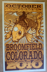 PHISH - BROOMFIELD - 2010 SILKSCREEN POSTER - RICHARD BIFFLE ORIGINAL