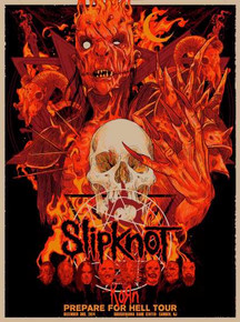 SLIPKNOT - GRAY CHAPTER - KORN - 2014 - CAMDEN - VANCE KELLY - RED EDITION - NJ