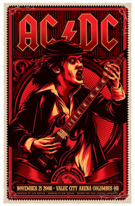 AC/DC - ANGUS YOUNG - 2008 - COLUMBUS - OHIO - KEN TAYLOR - TOUR POSTER