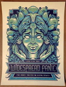WIDESPREAD PANIC - 2016 - AP#24/30 - MOODY THEATER - AUSTIN - POSTER - HALF HAZARD PRESS