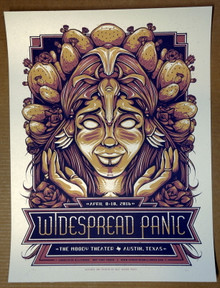 WIDESPREAD PANIC - 2016 - VARIANT #18/30 - MOODY THEATER - AUSTIN - POSTER - HALF HAZARD PRESS