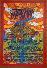 MOUNTAIN JAM - 2008 - ORIG SILKSCREEN - RICHARD BIFFLE - GOV'T MULE - WEIR - RATDOG -