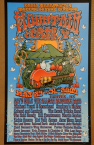 MOUNTAIN JAM - 2009 - ORIG SILKSCREEN - ALLMAN BROTHERS - RICHARD BIFFLE - GOV'T MULE