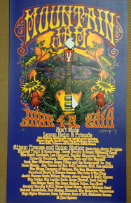 MOUNTAIN JAM - 2010 - ORIG SILKSCREEN - AVETT BROTHERS - RICHARD BIFFLE - GOV'T MULE