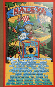 NATEYA MUSIC FESTIVAL - 2010 - OXFORD MAINE - ORIG SILKSCREEN - RICHARD BIFFLE - FURTHUR - MOE - FLAMING LIPS