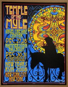 GOV'T MULE - NYE 2008 - HAMMERSTEIN - NEW YORK CITY - ARTIST PROOF - ORIG SILKSCREEN - RICHARD BIFFLE - POSTER