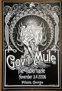 GOV'T MULE - 2006 - THE TABERNACLE - ATLANTA - ARTIST PROOF - ORIG SILKSCREEN - RICHARD BIFFLE - POSTER
