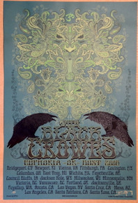 BLACK CROWES - 2008 - EUPHORIA OR BUST TOUR - VARIOUS VENUES - ARTIST PROOF - ORIG SILKSCREEN - RICHARD BIFFLE - POSTER