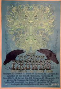 BLACK CROWES - 2008 - EUPHORIA OR BUST TOUR - VARIOUS VENUES - ARTIST PROOF - ORIG SILKSCREEN - RICHARD BIFFLE - POSTER